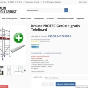 MeinRollgerüst Produktseite Wordpress Köln
